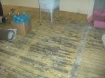 Carpet gone...lots of glue